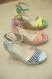 Stripe sandal wedges by Nine West $109.00, available in the shoe boutique at Gibbons Company.